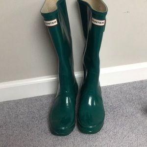 Teal Hunter Rain boots